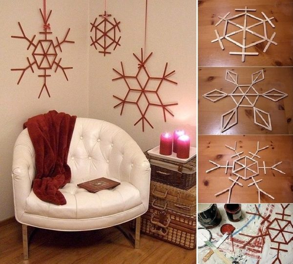 Make Christmas Decorations Using Popsicle Sticks