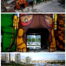 360 Mural on Six Giant Concrete Silos by OsGemeos