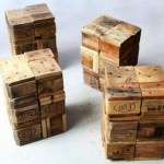 Stools-made-from-pallet-wooden-blocks-400x266