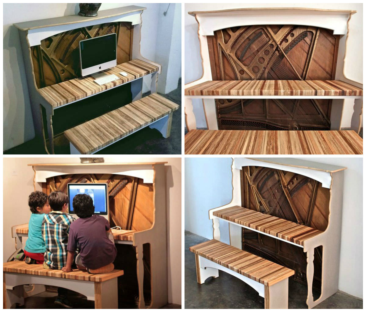 Reclaimed Piano Into Amazing Desk Creative Spotting