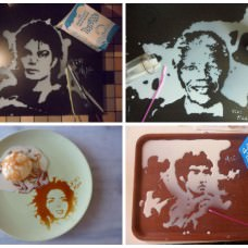 Portraits Made from Spilled Liquids by Vivi Mac