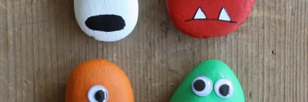 DIY: Pebble Monsters for Halloween