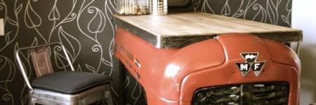 Old Massey Ferguson Upcycled Into Kitchen Bar