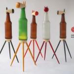 Beer bottles animals 01