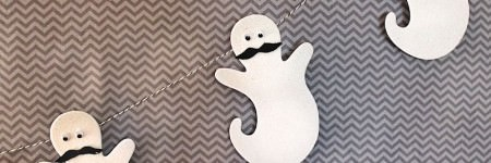 Mustache Ghost Garland