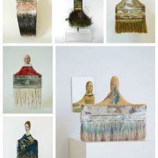 Old Paintbrushes Transformed Into Delicate Ladies