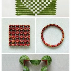 Geometric Food Art by Sakir Gökçebag