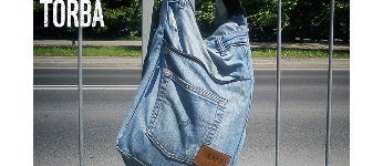 City Bag with old and Recycled Jeans
