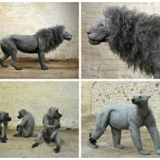 Animal Sculptures From Galvanized Wire By Kendra Haste