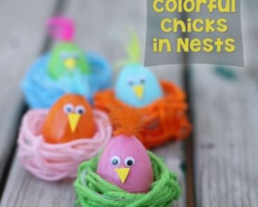 DIY-Easter-Chick-in-a-Nest-Craft
