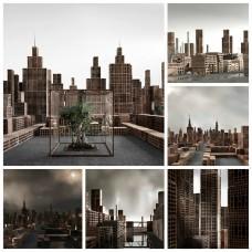 Bricks Cityscapes by Matteo Mezzadri