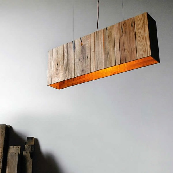 Pallet Floor Lamp: Minimalist Pendant Lamp Made Out Of Repurposed Pallet Wood