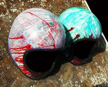 old motorcycle helmet