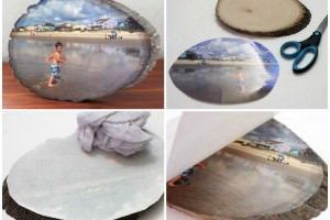 DIY Your Favorites Pictures on a Wood Slice by Photo Transfer10