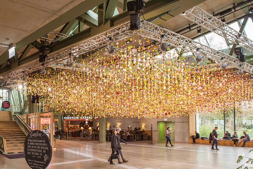 She Create a Suspended Garden with 30000 Live Flowers