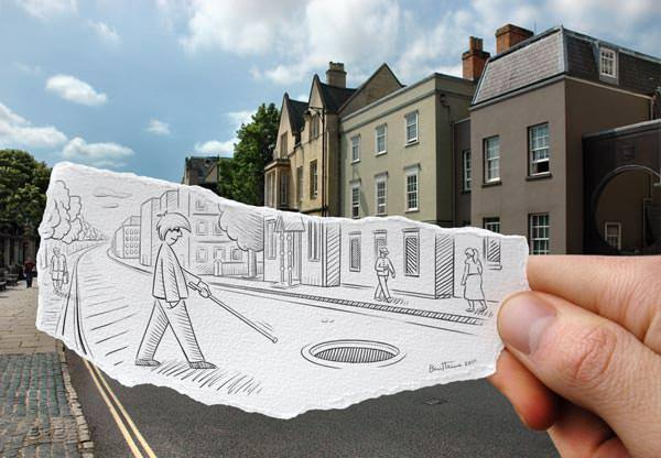Amazingly Creative Drawing Vs Photography Art + Graphics Photography