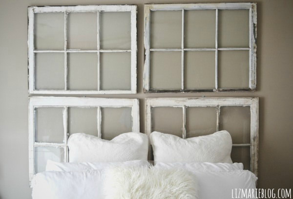 Diy Antique Window Headboard Architecture + Interiors