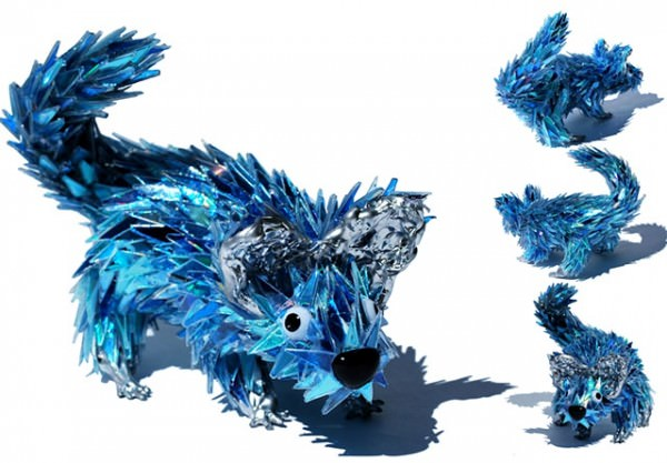 Sculptures from Shattered Cds Art + Graphics Sustainability
