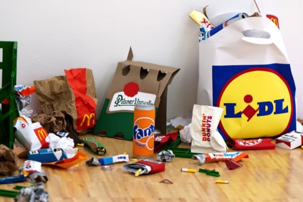 Everyday Rubbish Installation by Carly Fischer Art + Graphics