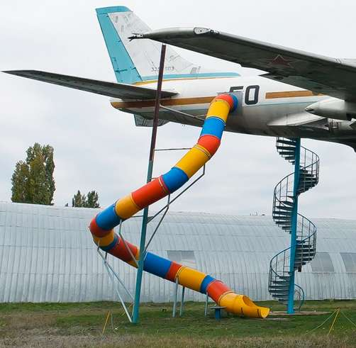 Airplane Playground Equipment Architecture + Interiors Sustainability