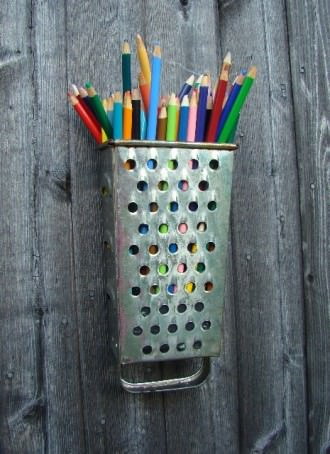 Cheese Grater Repurposed Into Pencil Case Design Sustainability