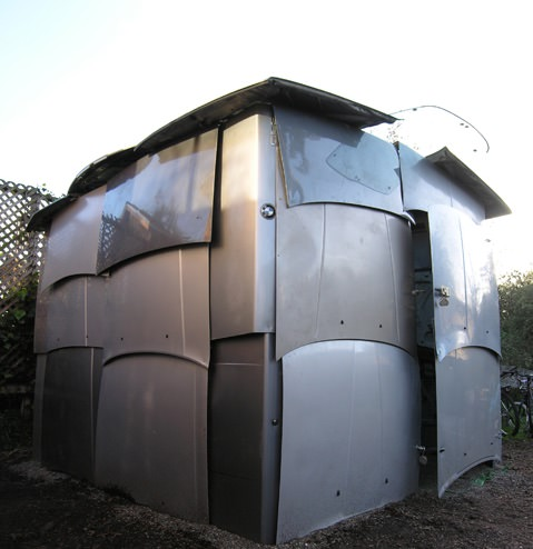 Shed Made From Salvaged Car Parts Architecture + Interiors Sustainability
