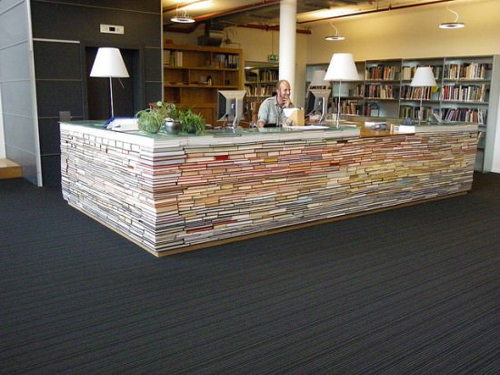 Library Information Desk Sustainability