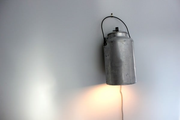 Milk Can Lights Design Sustainability