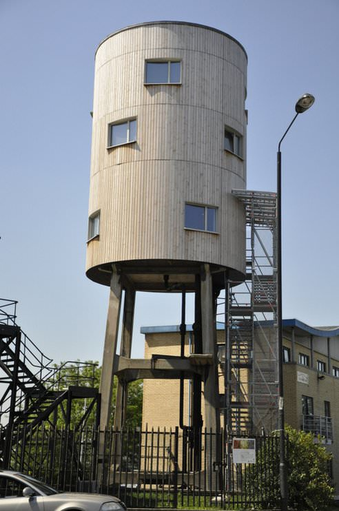 Old Water Tower Is Recycled Into A New House Gift Ideas