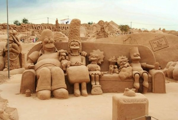 Giant Sand Sculpture in Brazil Art + Graphics