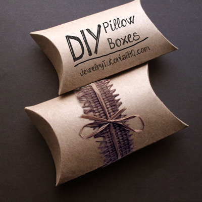 This Step By Video Tutorial Shows You How To Make Your Own Pillow Boxes Which Are Great For Packaging Handmade Jewelry