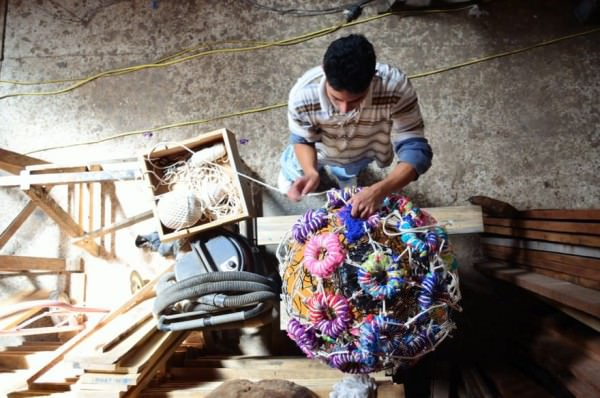 Handmade Textile Seat Ball Art + Graphics