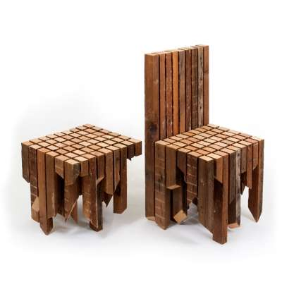 Fragmented Plywood Furnishings Design