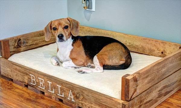 15 Super Cute Wood Pallet Dog Beds Gift Ideas Creative