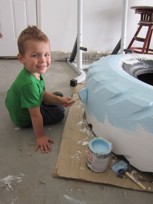 Diy Kids Project: Tractor Tire Upcycled Into Sandbox DIY + Crafts Sustainability