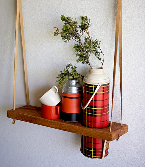 Diy: Hanging Vintage Thermos Display Shelf DIY + Crafts