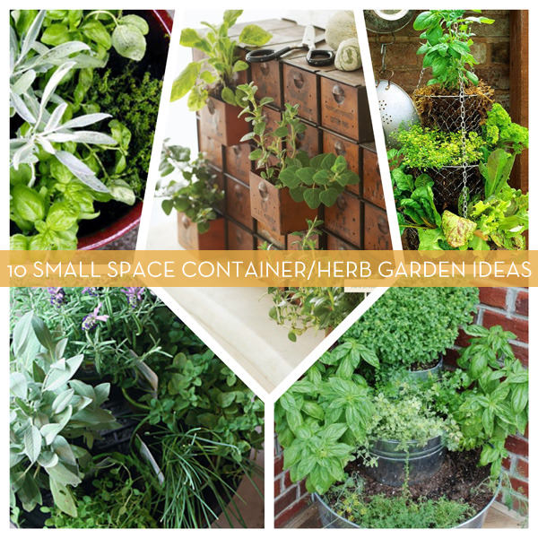 10 Creative Vegetable Garden Ideas: 10 Small Space Container And Herb Garden Ideas