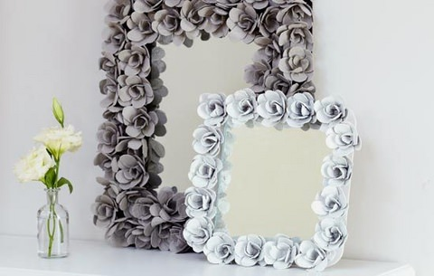 Diy Decorative Mirror With Egg Cartons Gift Ideas Creative Spotting