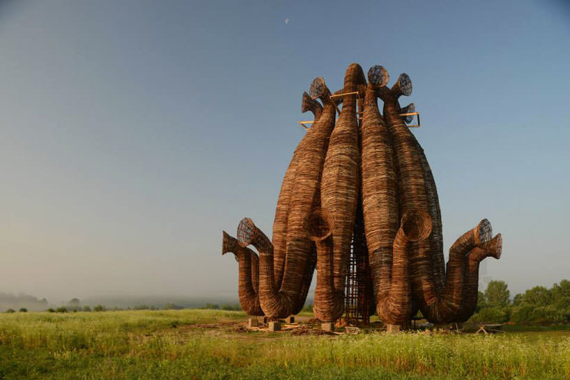 Towering Tubular Installation In Rural Russia By Nikolay