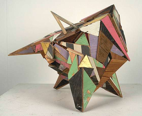 Aaron Moran: Recycled Wooden Sculpture Art + Graphics Sustainability