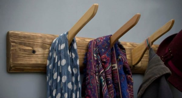 Coat Racks Made from Reclaimed Hangers Design Sustainability