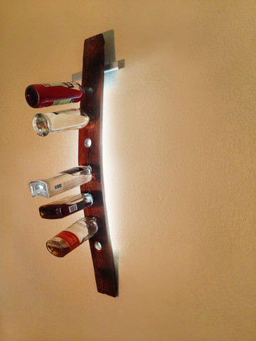 Modular Led Illuminated Wall Mounted Wine Racks Gift