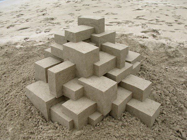 Geometric Sandcastles by Calvin Seibert Art + Graphics