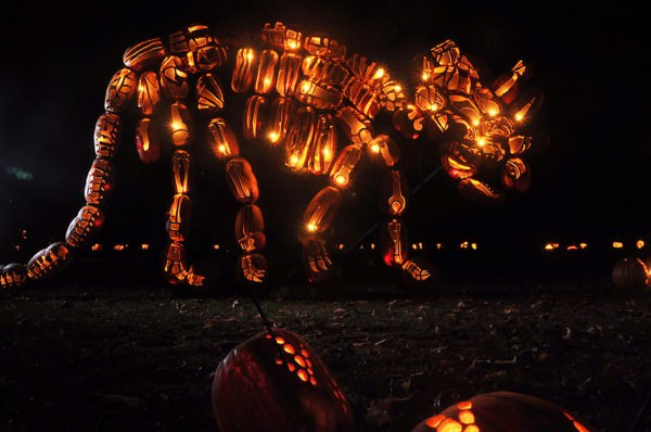 Stunning Pumpkin Sculptures At The Great Jack'o Lantern Blaze Art + Graphics
