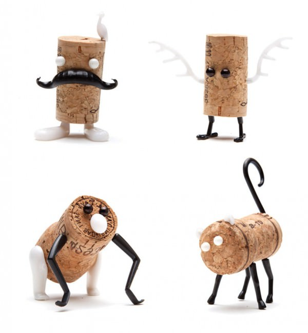 Diy: Cork Stopper Animals DIY + Crafts Funny