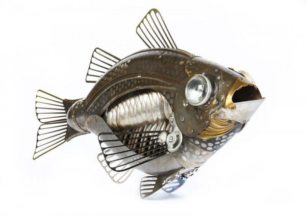 Intricate Animals Made from Scrap Metal and Old Auto Parts Art + Graphics