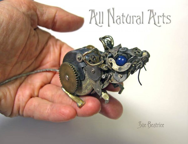 Artist Uses Old Watch Parts To Craft Tiny Intricate Steampunk Sculptures Art + Graphics