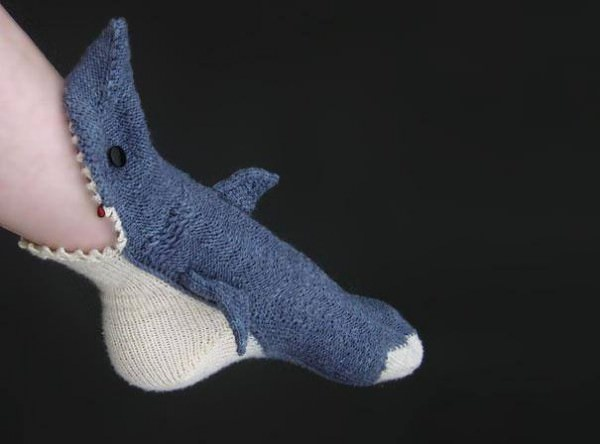 Shark Slipper Socks Fashion + Trends Funny