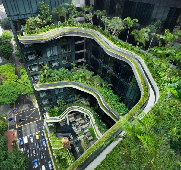 This Hotel in Singapore Has the Coolest Sky Gardens Ever Architecture + Interiors