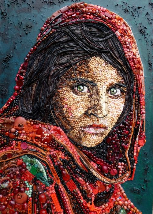 Contemporary Portraits From Junk Art + Graphics